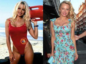 Pamela Anderson-CJ Parker-Antes y ahora