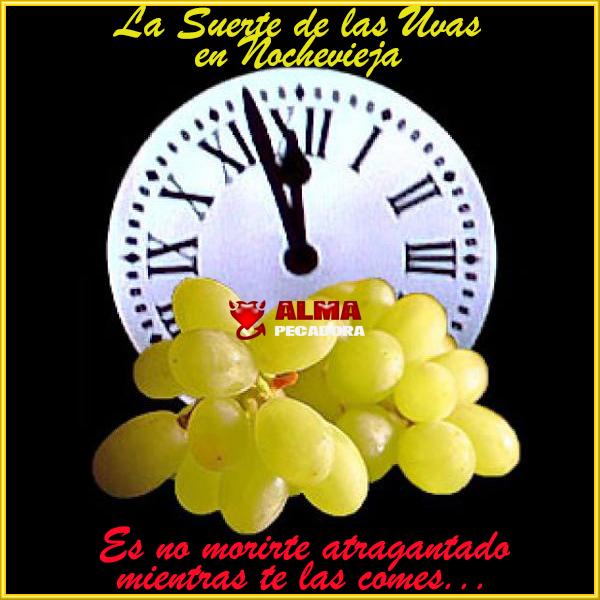 La suerte de las uvas en Nochevieja