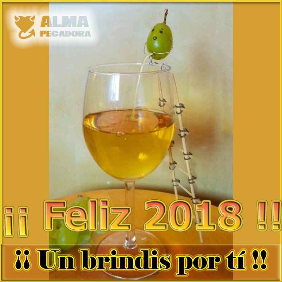 Un brindis por el Año Nuevo Feliz 2018