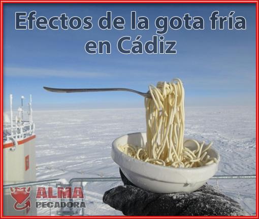 Efectos de la gota fría en España , más concretamente en Cádiz