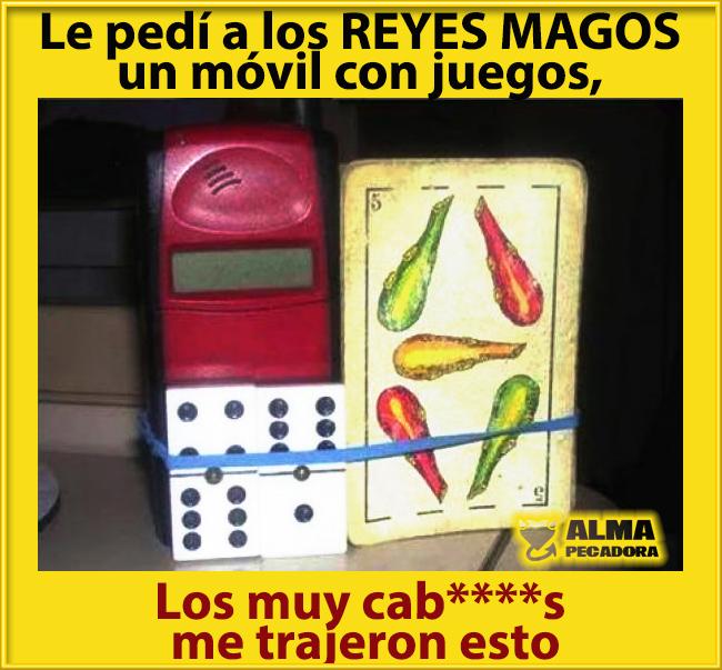 Reyes Magos pedí un móvil