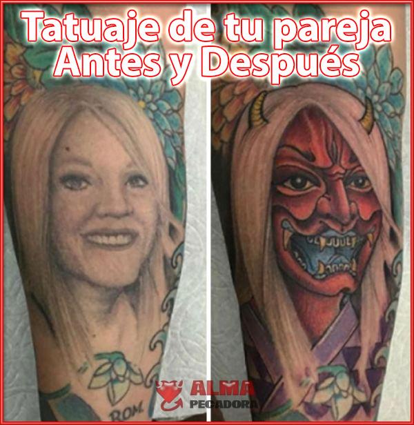 El tatuajes antes y después de estar con tu pareja