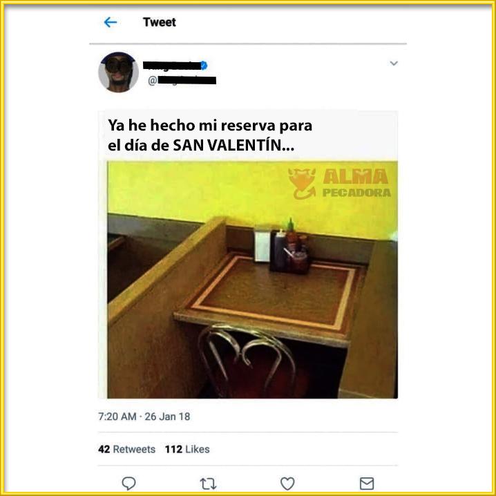 Reservas para cenar en San Valentín por singles