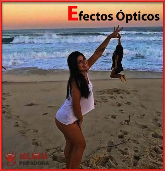 Efectos ópticos en la playa