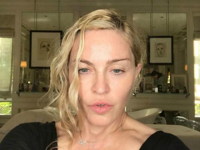 Madonna sin maquillar