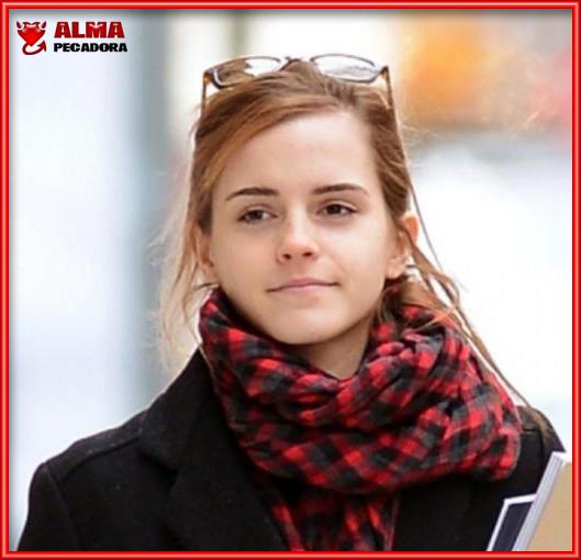 La actriz Emma Watson sin maquillar es una chica muy normalita