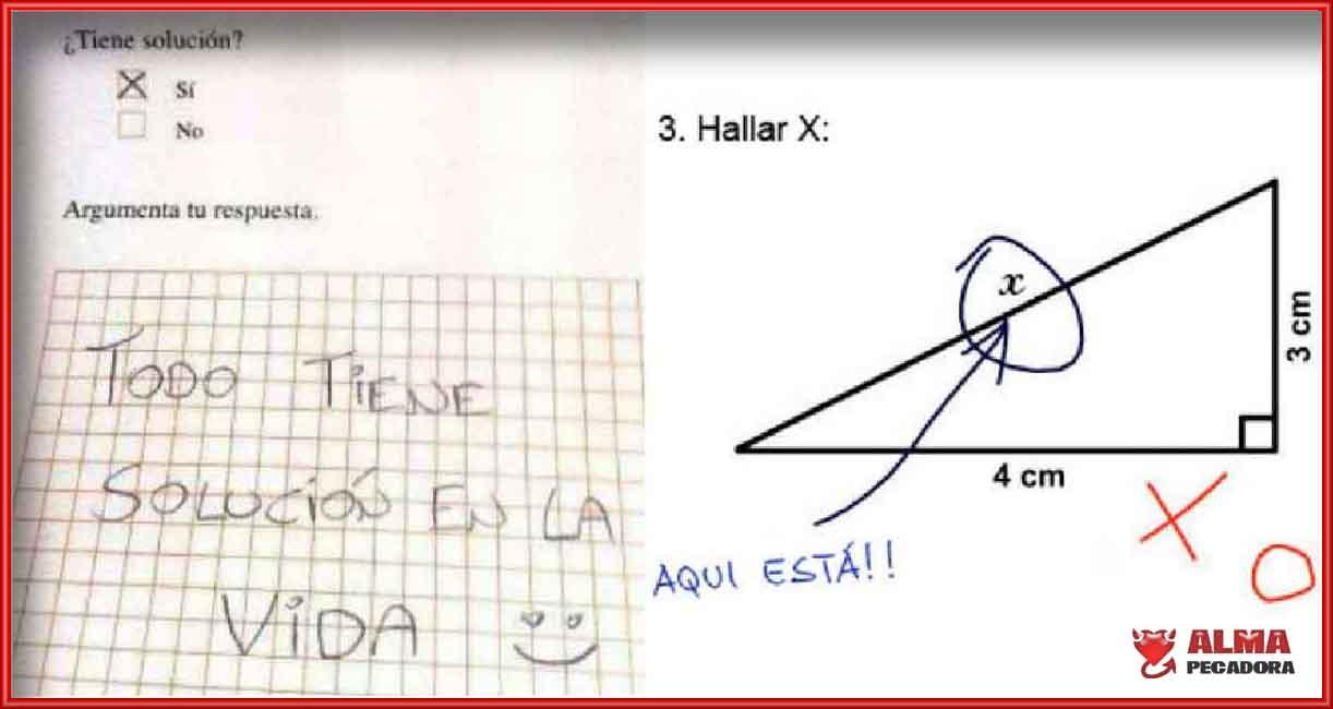 Una respuesta épica de un estudiante muy positivo en un examen