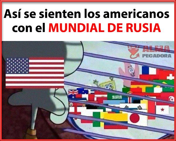 Así se sienten los americanos con el Mundial de Rusia