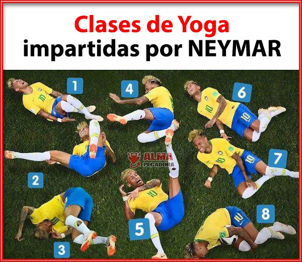 Clases de Yoga impartidas por el jugador de Brasil Neymar