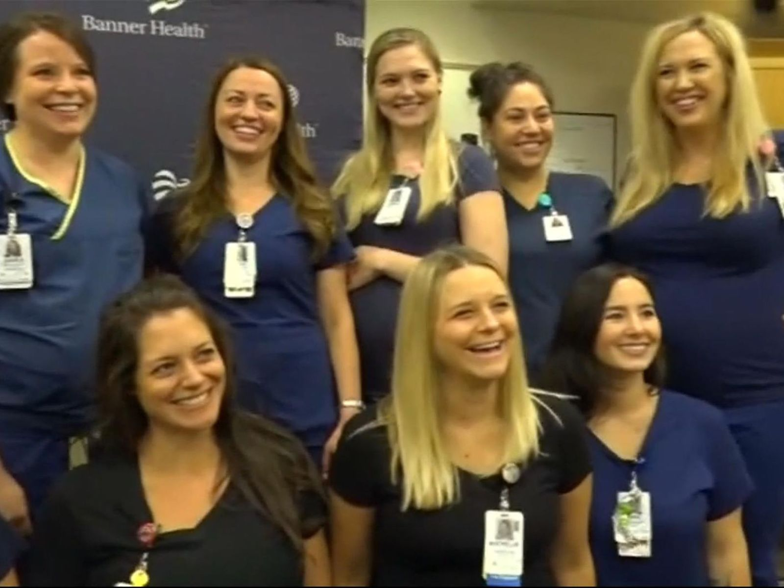 En un mismo hospital 16 enfermeras esperan dar a luz