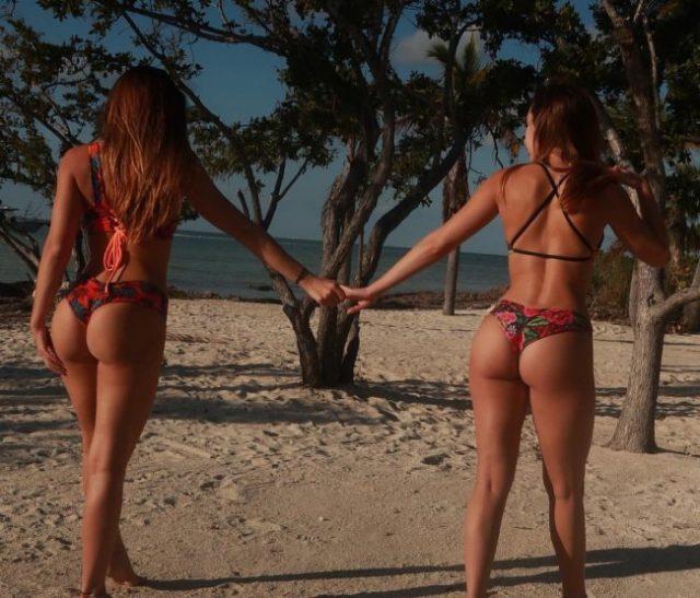 Fotos de tias buenas en tanga en la playa que os van a poner muy calientes