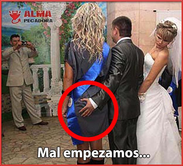 Fotos divertidas de bodas y matrimonios