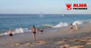 Una sirena varada en el mar