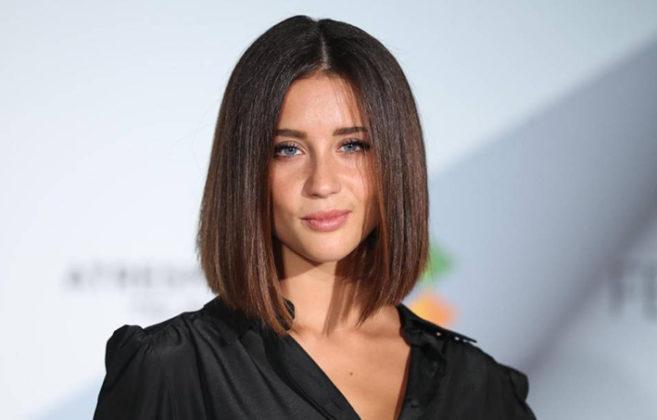 María Pedraza muy guapa en un evento